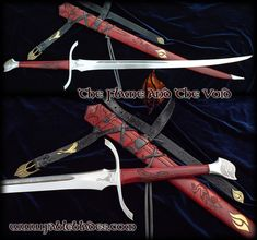 Hi folks. I hope you enjoy the Antithesis to my ever popular Heron Marked swords from Robert Jordan's Wheel of Time Universe. All the Images, Specification and more can be found here:ww...