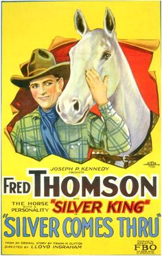 Silver Comes Thru, 1927. #vintage #movies #posters #1920s #Western
