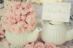 Very cute idea have to have a teapot at an English wedding