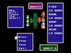 NES Longplay [224] Final Fantasy 1 (part 1 of 4) - YouTube