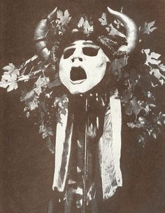 Mask of Dionysos (by John Soares) Photo by Rink © 1984 From The...