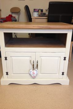 After tv unit, painted in Annie Sloan old ochre.