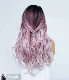 Awesome pastel violet rose ombre