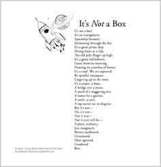 """Cute children's poem about the imagination. Great for classroom reading lessons for kindergarten, and grade, common core, and for ESL lessons. Excerpt from the poetry collection, """"Suzie Bitner Was Afraid of the Drain"""" by Barbara Vance. Esl Lessons, Reading Lessons, Classroom Projects, Poetry Collection, Poetry Books, Cute Kids, Kindergarten, Poems, Learning"""