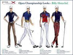British Open scripting: Ralph Lauren/Polo for Billy Horschel Trendy Golf, British Open, Golf Tour, Polo Ralph Lauren, Scripts, How To Wear, Movies, Fashion, Moda