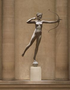 Diana by Augustus Saint-Guadens, is poised at the Great Stair Hall Balcony, second floor of the Philadelphia Museum of Art. (Credit: Philadelphia Museum of Art)