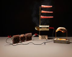 Grotesque Photographs of Self Powered Food Contraptions