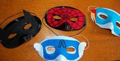 DIY No Sew Felt Superhero Masks