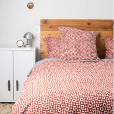 Bobby Berk Home Red Mosaic Bedding