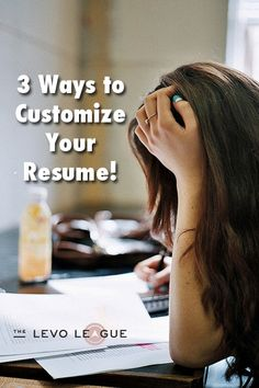 Resume  amp  CV  Customize your resume for each job application