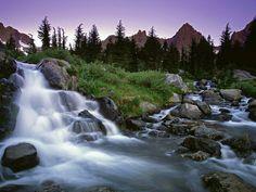 Ansel Adams Wilderness, Sierra Nevada, California, USA - Beautiful Places to Visit Mountain Waterfall, Small Waterfall, Beautiful Places To Visit, Places To See, Ansel Adams Wilderness, California Wallpaper, Nevada California, Supernatural Wallpaper, All Nature