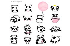 Niedlicher Panda, Panda Love, Panda Illustration, Images Kawaii, Art Chinois, Bear Drawing, Cute Panda Drawing, Panda Party, Bild Tattoos