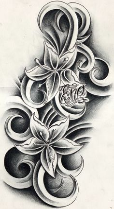 Lily Tattoo Design by BellaRexi on DeviantArt Tribal Flower Tattoos, Girly Tattoos, Trendy Tattoos, Cool Tattoos, Tattoo Pics, Tattoo Ideas, Floral Tattoos, Vine Tattoos, Cover Up Tattoos