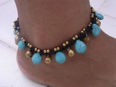 Anklet Handmade Turquoise With Bells in Thailand Fair Trade Jewelry | eBay