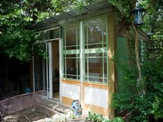 Salvaged Yoga Shack: built for a 10th wedding anniversary, made from 75 percent salvaged materials