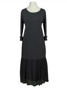 Damen Kleid Seidenvolant, grau von Diana bei www.meinkleidchen.de
