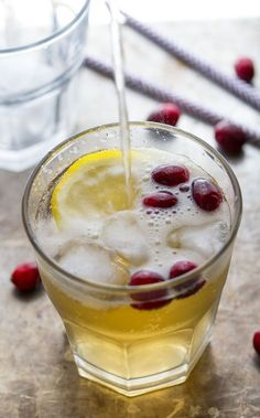 With ginger beer and cranberries, you can drink this cider cocktail right on up through Christmas. Get the recipe from Sweet Peas and Saffron. - Delish.com