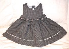Baby Girl THE CHILDREN'S PLACE Dress; black white gingham; 3-6 month UNIQUE OMG!