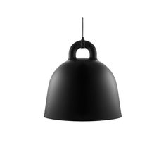 The designers of the Normann Copenhagen Bell pendant light were inspired by an old bell from the past. Andreas Lund and Jacob Rudbeck designed a perfect lamp for the living room, bedroom or hallway . Lund, Luminaire Design, Lamp Design, Modern Pendant Light, Pendant Lighting, Pendant Lamps, Pendants, Canopy Lights, Ceiling Lights