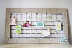Crib mattress springs turned note board - I want to do hanging office storage