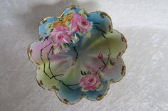 Vintage Hand Painted Nippon Bowl  Beautiful by EMStreasureseekers, $48.00