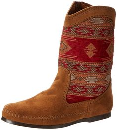 Minnetonka Baja Boot, Damen Halbschaft Mokassin Boots, Braun (Dusty Brown), 39 EU