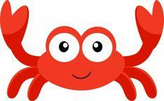Crab aplique mar peixe on whales appliques and clip art Under The Sea Theme, Under The Sea Party, Little Mermaid Parties, The Little Mermaid, Mermaid Kids, Crab Clipart, Cartoon Sea Animals, Shark Party, Clip Art