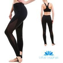 Ombre Violet Athletic Yoga Leggings from DiaNoche Designs by Artist Susie Kunzelman