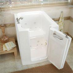 Walk In Tubs, Walk In Bathtub, Walk In Shower Designs, Soaking Bathtubs, Whirlpool Bathtub, Wall Installation, Home Improvement, Ada Compliant, Bathroom Ideas