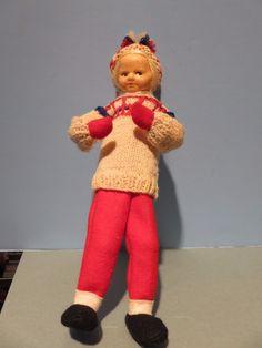 XLC Ronnaug Petterssen Ski Girl Doll Norway Norwegian Handmade Cloth Scandinavia | eBay