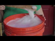 Becky shows you her recipe for homemade liquid laundry soap with NO COOKING REQUIRED. She starts by showing you the ingredients, then she sh...