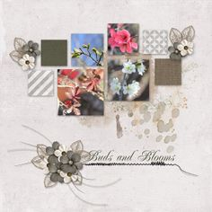 """Buds and Blooms"" created with ""All Natural Page Kit"" by Meryl Bartho at DSP"