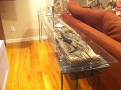 very cool sofa table