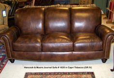 Hancock U0026 Moore Journal Sofa In Capri Tobacco