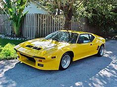 De Tomaso Pantera  GTS Crazy Cars, Weird Cars, All Cars, Pantera Car, Yellow Car, Best Muscle Cars, Dream Garage, Amazing Cars, Maserati