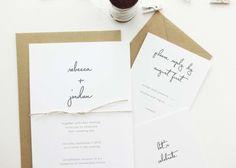 Rebecca Wedding Invitation / Kraft Rustic by mariechangdesigns