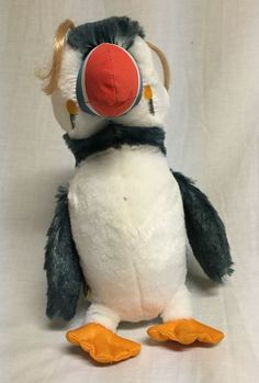 "Build A Bear 10"" Sven Puffin Penguin Happy Feet 2 Plush Hair Colored Beak #BuildABear"