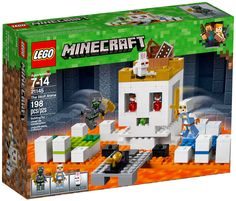 Build a battling Skull Arena and defeat your opponent to claim the prize golden apple with this LEGO Minecraft The Skull Arena Set Lego Minecraft, Minecraft Skins, Cool Minecraft Houses, Minecraft Pixel Art, Minecraft Buildings, Minecraft Stuff, Minecraft Ideas, Minecraft Crafts, Shop Lego