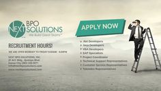 Careers at Next BPO Solutions | Apply now and be part of NEXT BPO Solutions' growing team! www.nextbposoluti... #IT #BPO #Outsourcing #Davao #Philippines