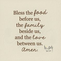 Kitchen Family Rules Small Bless the food before us by bwordy, $14.00