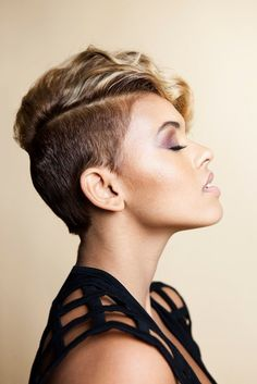 Short Hair Styles: Shaved Sides