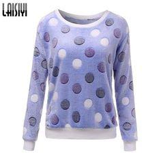 Cute Print, Long Sleeve Casual Sweatshirt