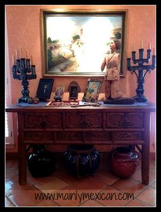 Former home the way it was Mexican Style Homes, Mexican Home Decor, Spanish Style Homes, Spanish Revival, Spanish Colonial, Mexican Interior Design, Mexican Designs, Mexican Bedroom, Mexican Style Bedrooms