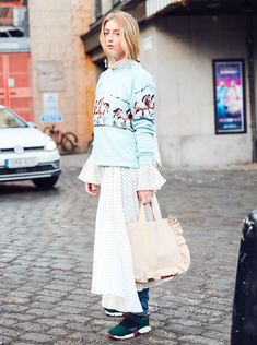 20 Genius Ways to Layer From Stockholm Fashion Week Street Style via @WhoWhatWearUK