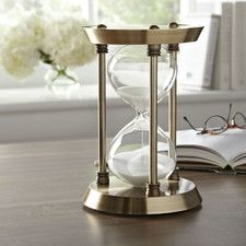Found it at Birch Lane - Corinthian Hourglass Home Decor Furniture, Furniture Making, Decorative Objects, Decorative Plates, Decorative Accents, Hourglass Timer, Tabletop Clocks, Coastal Living Rooms, Traditional Furniture