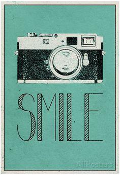 Smile Retro Camera Poster at AllPosters.com