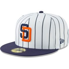 info for 7ffba b2a68 Men s San Diego Padres New Era White Cooperstown Collection Alt Logo Pack  59FIFTY Fitted Hat,  35.99