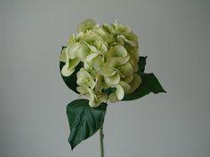 12 Hortensien 76 cm grün-weiß Kunstblumen Seidenblumen Blumen Dekoration neu OVP