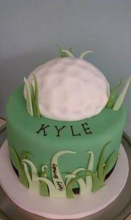 event idea, celebration cakes, cake inspir, golf cake, birthdays, themed cakes, golf birthday, bday cake, birthday cakes