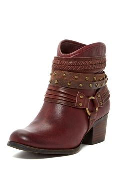 ++ Burgundy Currie Bootie